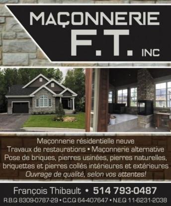 Maçonnerie F.T inc. - Maçons et entrepreneurs en briquetage - 514-793-0487