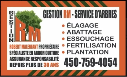 Gestion RM - Paysagistes et aménagement extérieur - 450-803-4400