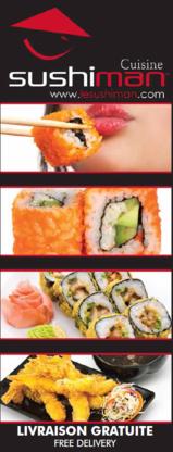 Sushiman - Sushi et restaurants japonais - 450-656-3456