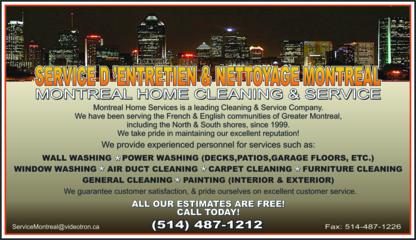Services d'Entretien et de Nettoyage Montréal - Window Cleaning Service - 514-487-1212
