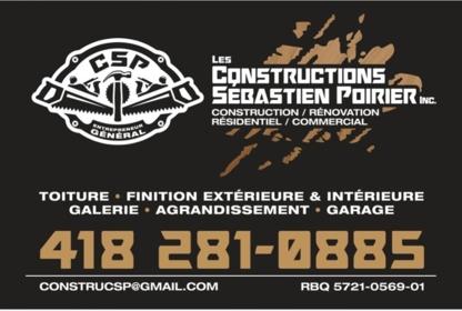Les Constructions Sébastien Poirier Inc - General Contractors