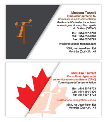 Service d'Immigration et de Traduction Tarmous - Traducteurs et interprètes - 514-507-8723