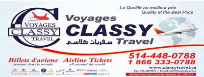 Classy Travel - Travel Agencies - 514-448-0788
