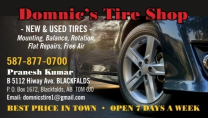 Domnic's Tire Shop Ltd - Magasins de pneus