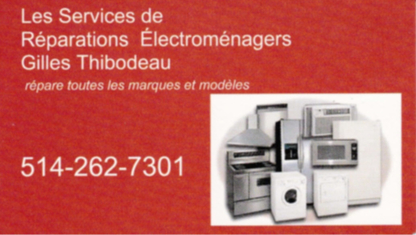 Voir le profil de Les Services de réparations d'électroménagers Gilles Thibodeau - Chambly