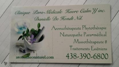 Clinique de Naturopathie et Massothérapie Danielle Dehondt - Massothérapeutes - 438-390-6800