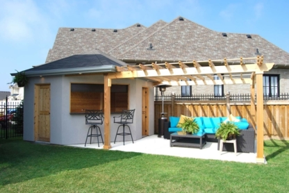 Cedar Wood Structure - Landscape Contractors & Designers - 905-726-2111