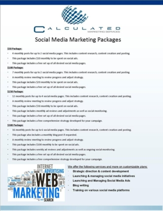 Calculated Marketing Services - Marketing Consultants & Services - 778-228-8847