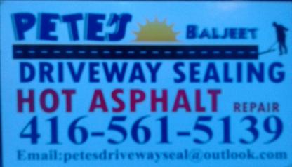 Voir le profil de Pete's Driveway Sealing & Repairs - Scarborough