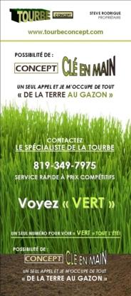 Tourbe Concept - Gazon et service de gazonnement - 819-349-7975