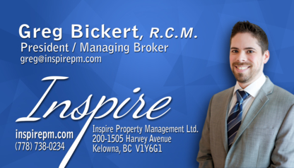 Inspire Property Management Ltd - Property Management - 778-738-0234