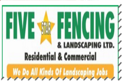 Five Star Fencing & Landscaping - Landscape Contractors & Designers - 604-807-1403
