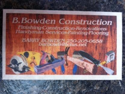 B Bowden Construction - General Contractors