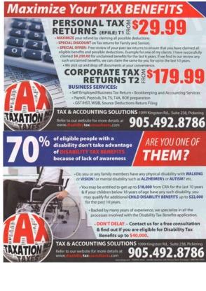 Tax & Accounting Solutions - Tax Return Preparation - 905-492-8786
