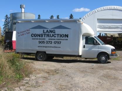 Lang Construction - Building Contractors - 905-372-1797