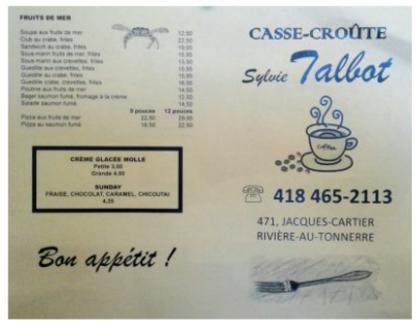Casse-Croûte Sylvie Talbot - Restaurants - 418-465-2113