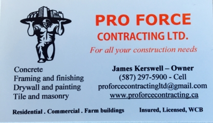 Pro Force Contracting Ltd - Building Contractors