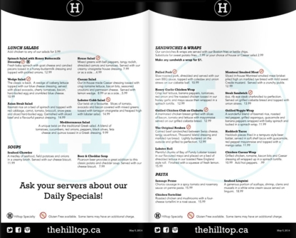 Hilltop Grill & Beverage Company - Rotisseries & Chicken Restaurants - 506-458-9057
