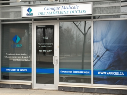 Clinique De Varices Du Dr Madeleine Duclos - Medical Clinics - 450-449-3397