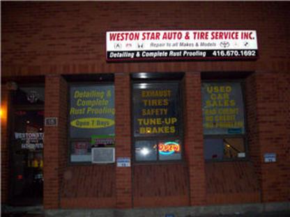 Weston Star Autotyre - Auto Repair Garages - 647-428-7076