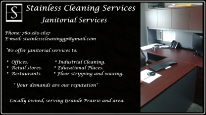 Stainless Cleaning Services - Commercial, Industrial & Residential Cleaning - 780-380-1637