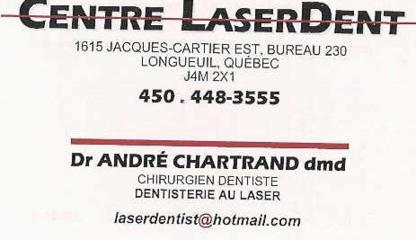Centre Laserdent - Traitement de blanchiment des dents - 450-448-3555