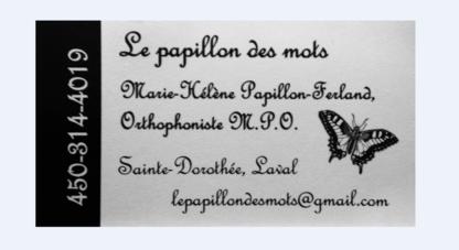 Orthophonie le Papillon des Mots - Speech-Language Pathologists - 450-314-4019