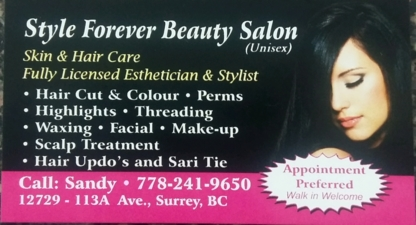 Style Forever Beauty Salon - Épilation à la cire - 778-241-9650