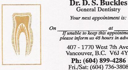 View Buckles David Dr's Vancouver profile