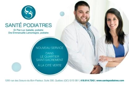 Santé Podiatres - Podiatres - 418-914-7242