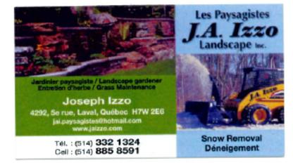 J A Izzo Paysagistes Pavage Inc - Paysagistes et aménagement extérieur - 514-885-8591