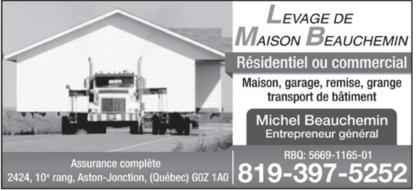 Levage de Maison Beauchemin - Building & House Movers