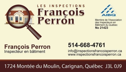 Les Inspections François Perron - Home Inspection - 514-668-4761