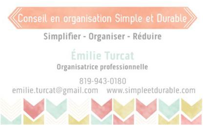 Simple et Durable - Conseil en Organisation - Political Organizations & Representatives - 819-943-0180