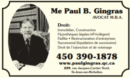 Gingras Paul B - Avocats fiscalistes - 450-347-0433