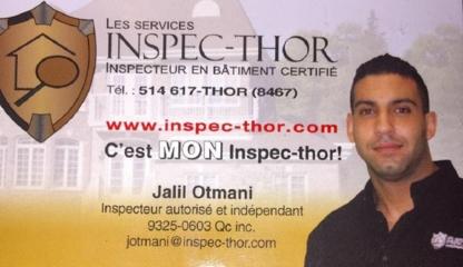 Les Services Inspec-Thor de Montréal Inc - Inspection de maisons - 1-866-617-8467