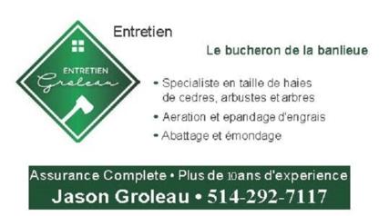 Voir le profil de Entretien Groleau - Saint-Jean-sur-Richelieu