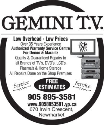 Gemini TV - Video Equipment