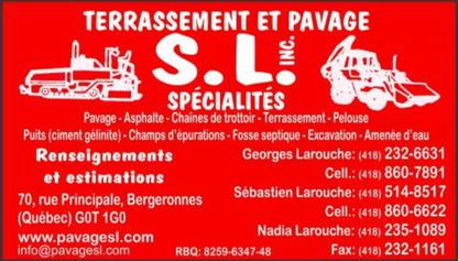 Terrassement et pavage SL - Entrepreneurs en excavation
