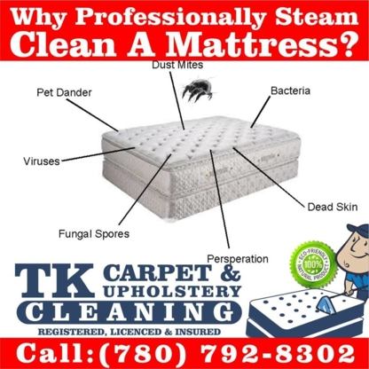 TK Carpet & Upholstery Cleaning - 780-792-8302