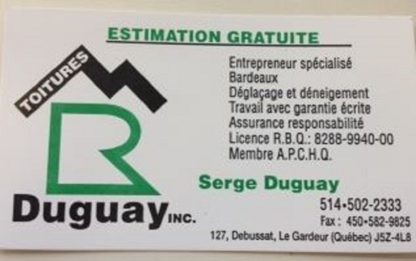 Toitures M R Duguay Inc - Roofers - 514-502-2333