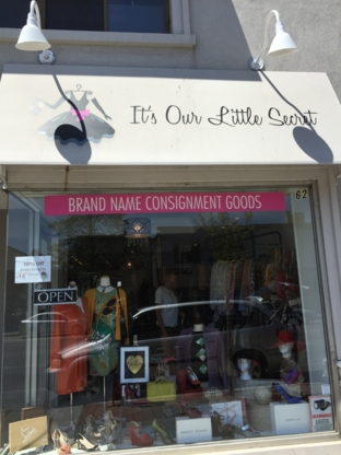 Its Our Little Secret - Consignment Shops - 905-274-2121