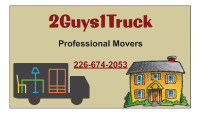 2 Guys 1 Truck Moving Services - Moving Services & Storage Facilities - 226-674-2053
