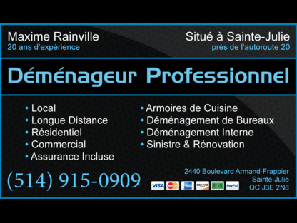 Déménageur Professionnel - Moving Services & Storage Facilities - 514-915-0909