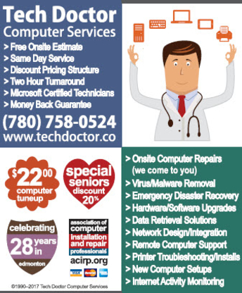 Tech Doctor Computer Services - Computer Repair & Cleaning - 780-758-0524