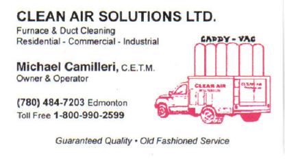 Clean Air Solutions (Alberta) Ltd - Furnace Repair, Cleaning & Maintenance