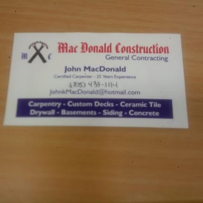 MacDonald Construction - Home Improvements & Renovations