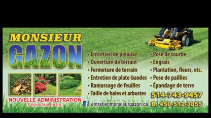Monsieur Gazon - Entretien de gazon - 514-743-9457
