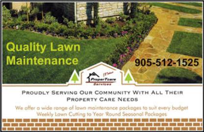 ProperTcare Services - Lawn Maintenance - 905-512-1525