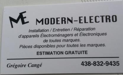 Modern-Electro - Magasins de gros appareils électroménagers - 438-832-9435